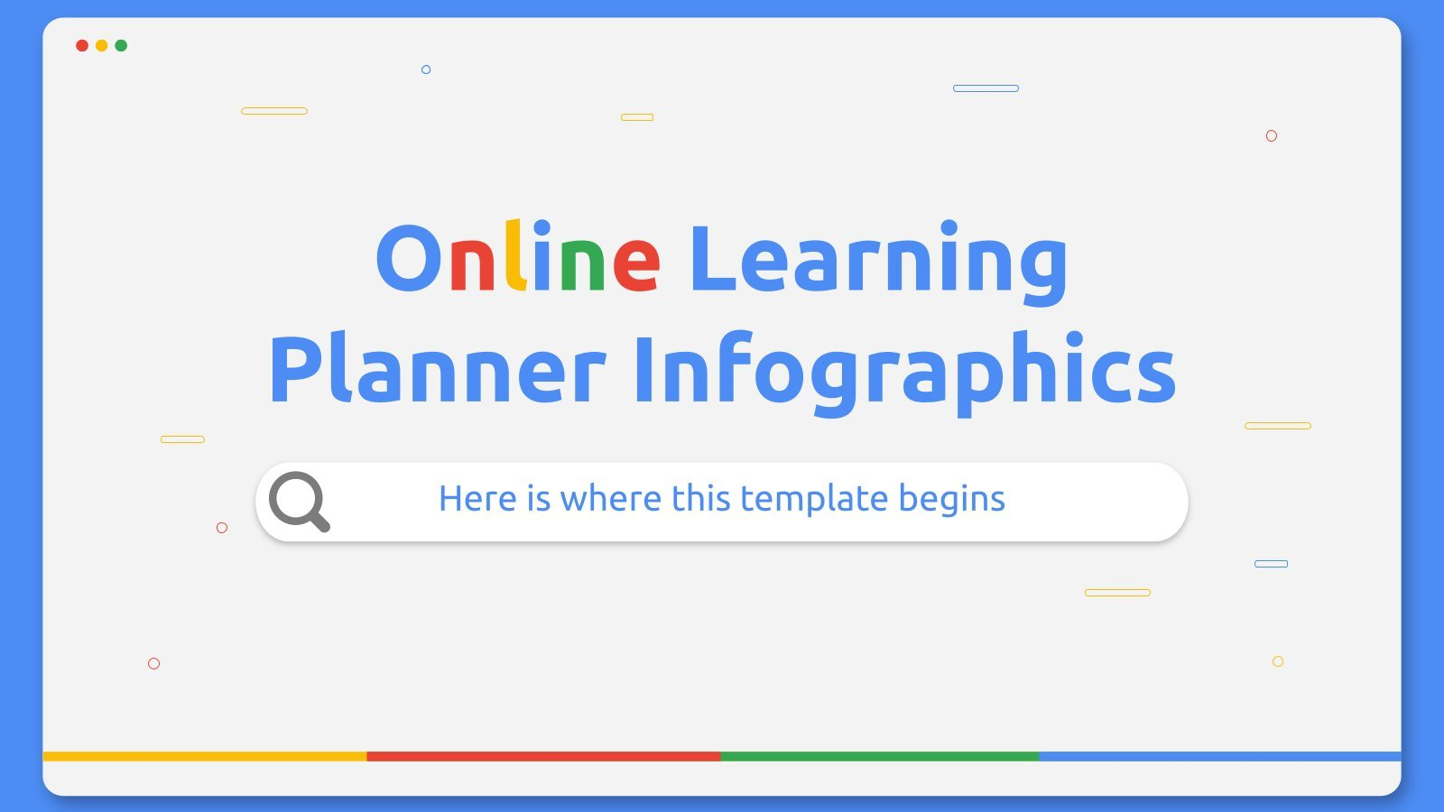 Online Learning Planner Infographics presentation template