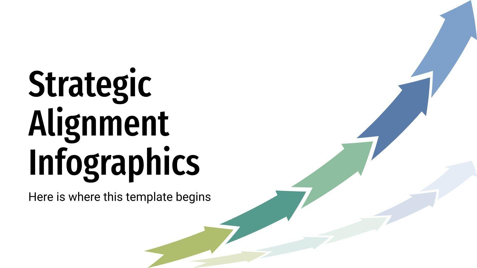 Modelo de apresentação Infográficos de alinhamento estratégico