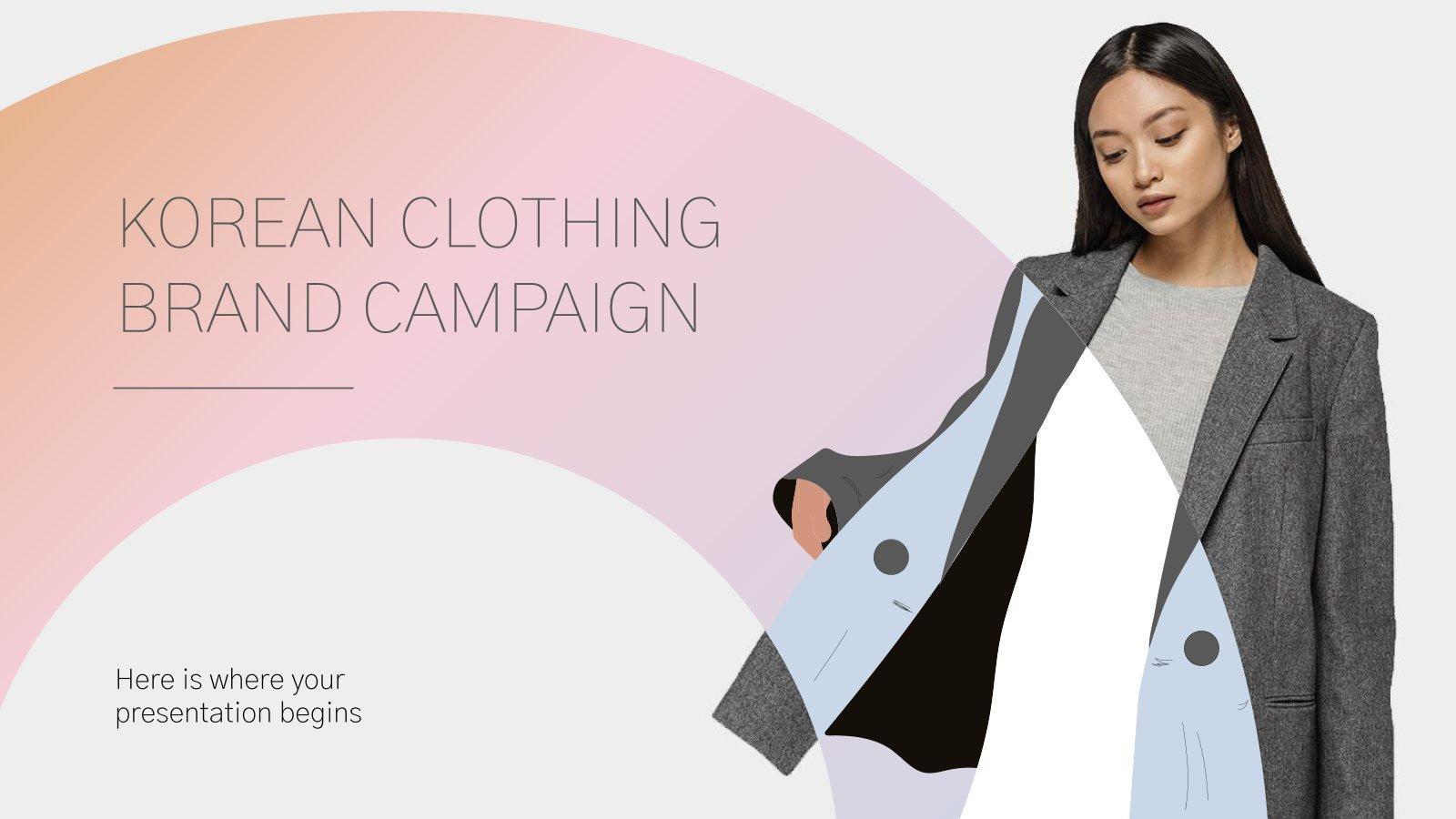 Modelo de apresentação Campanha da marca de roupas coreana