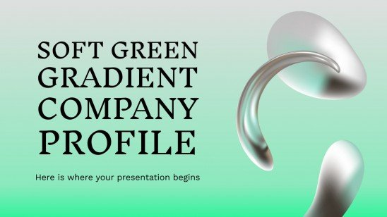 Soft Green Gradient Company Profile presentation template