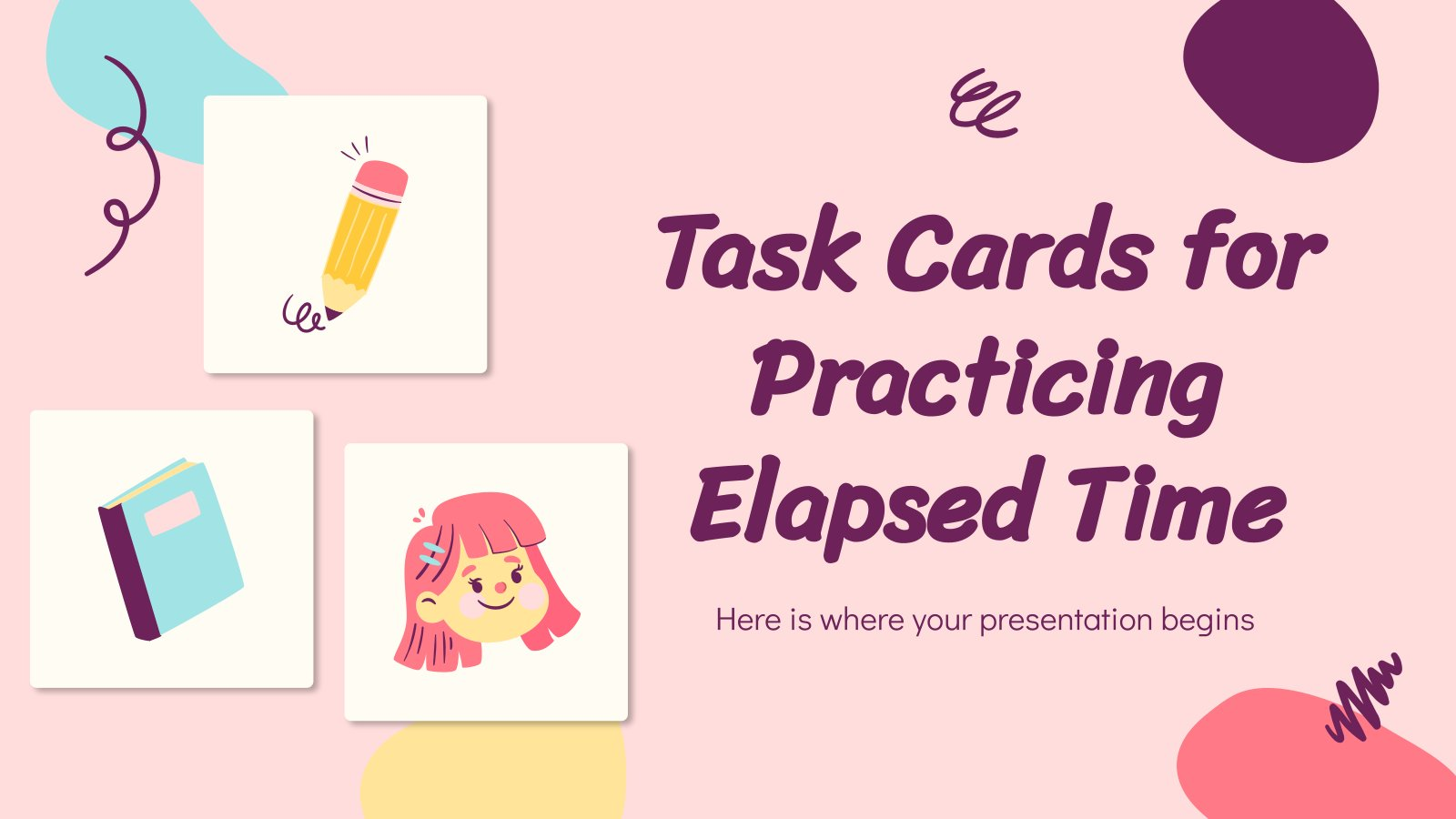 Task Cards for Practicing Elapsed Time presentation template