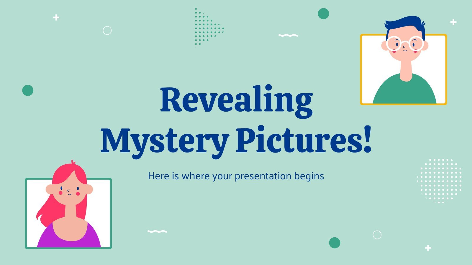 Plantilla de presentación ¡Revelación de fotos misteriosas!