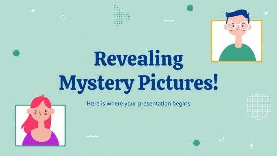 Modelo de apresentação Revelando imagens misteriosas!