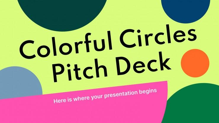 Pitch deck avec des cercles colorés : Modèles de présentation