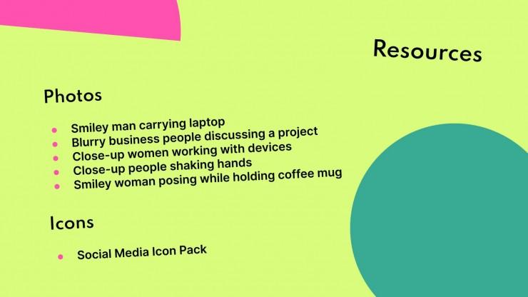 Plantilla de presentación Pitch deck con círculos coloridos