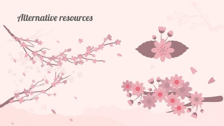Plantilla de presentación Los cerezos florecen en Namiseom