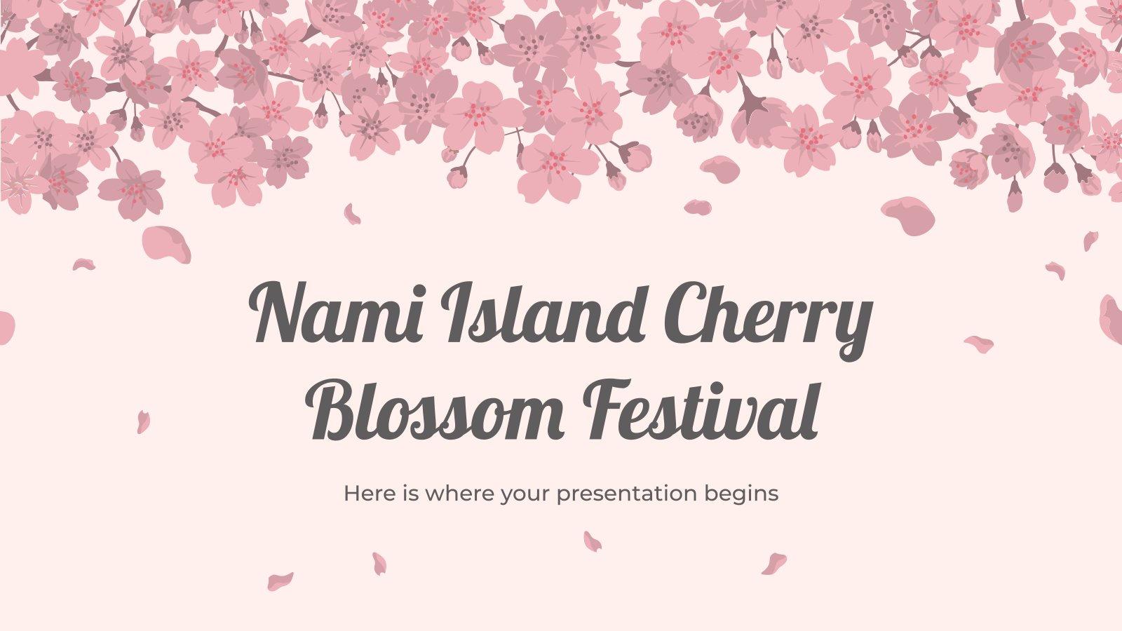Nami Island Cherry Blossom Festival presentation template
