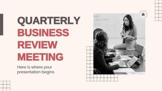 Quarterly Business Review Meeting presentation template