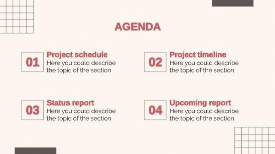 Réunion trimestrielle de bilan d'activité : Modèles de présentation