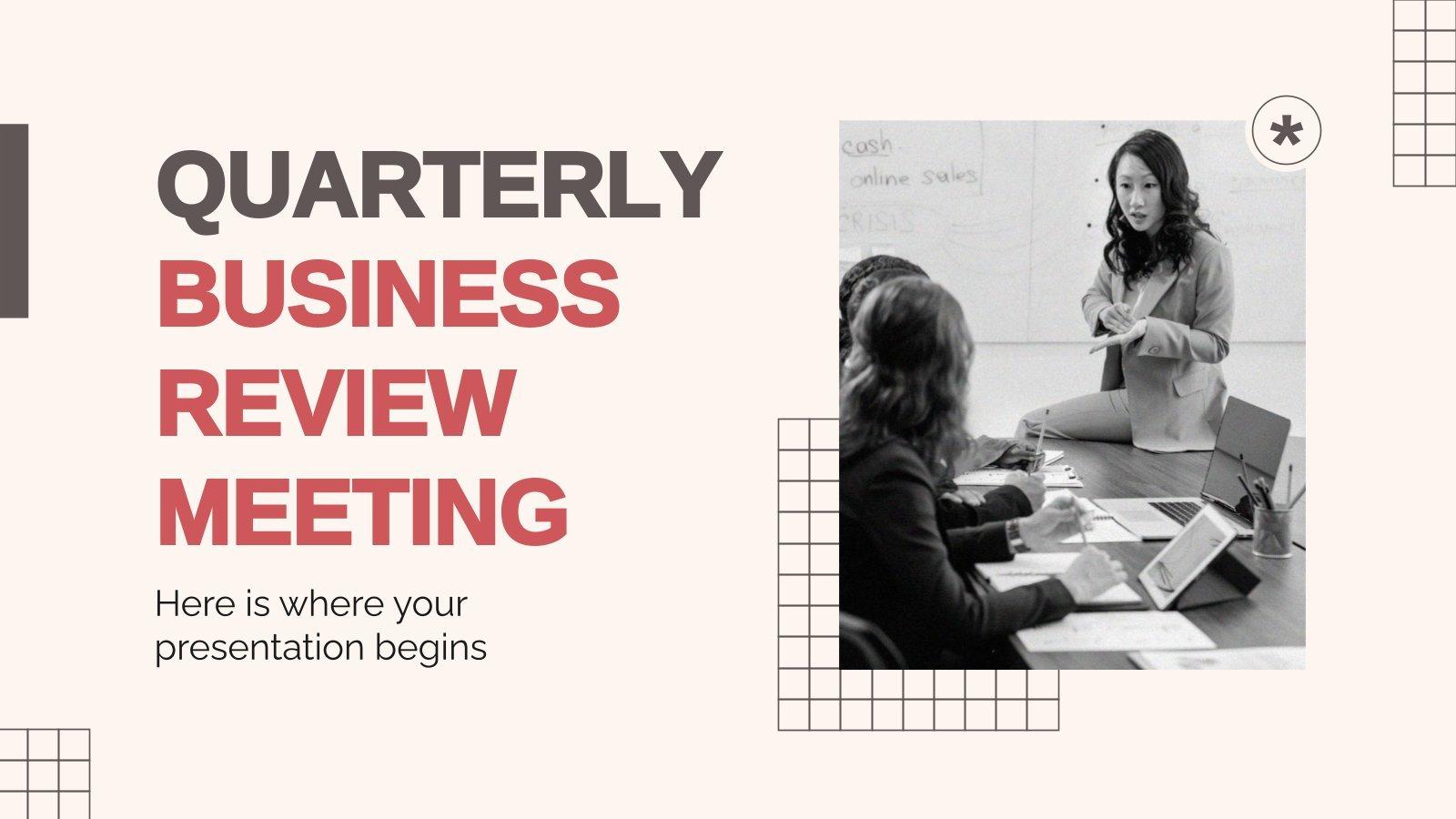Plantilla de presentación Reunión trimestral de evaluación del negocio
