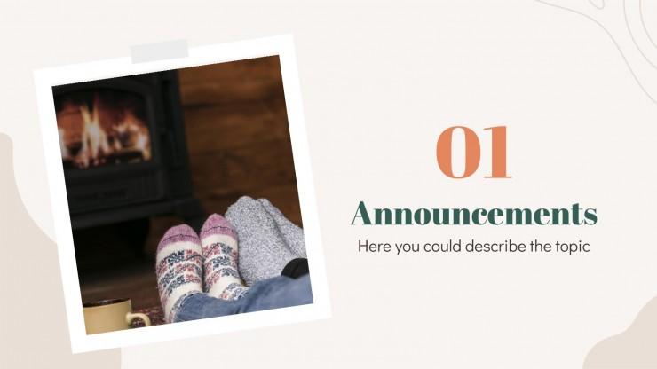 Cozy Season presentation template