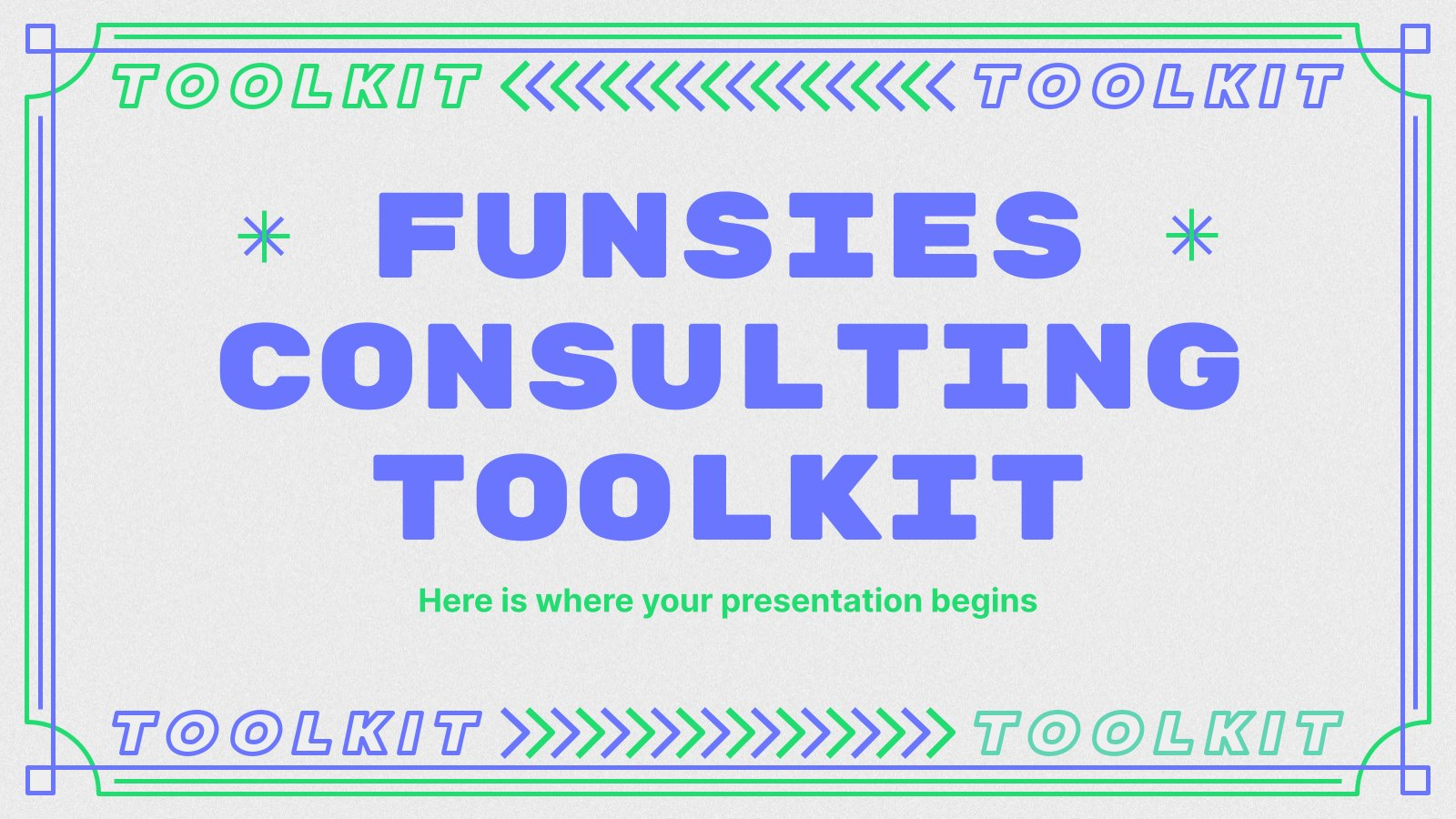Funsies Consulting Toolkit presentation template
