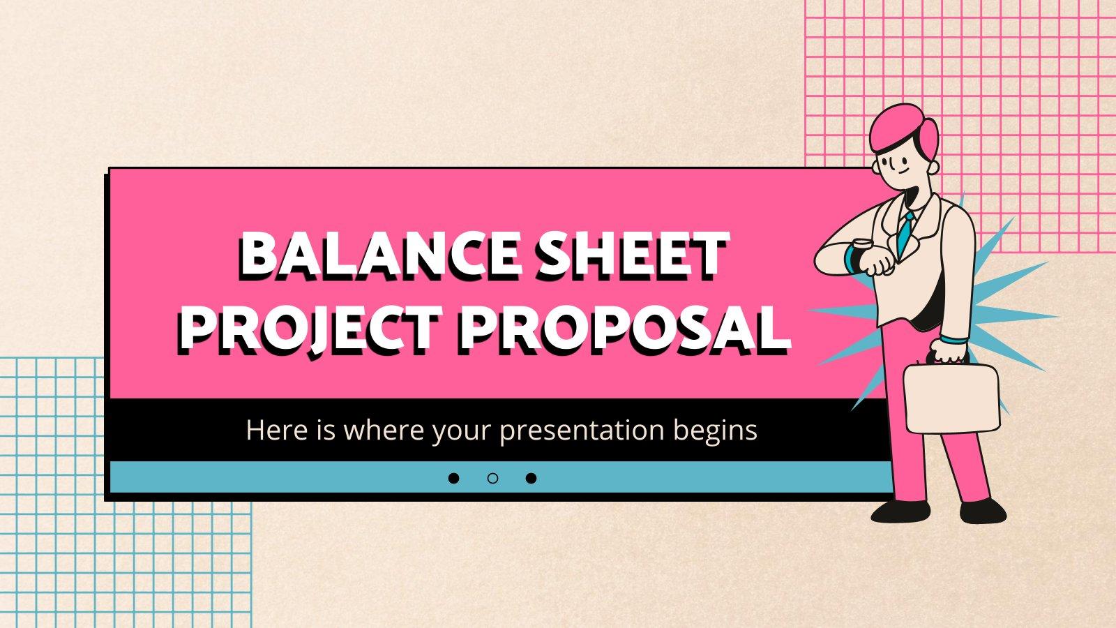 Balance Sheet Project Proposal presentation template