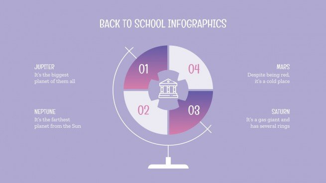 Back to School Infographics presentation template