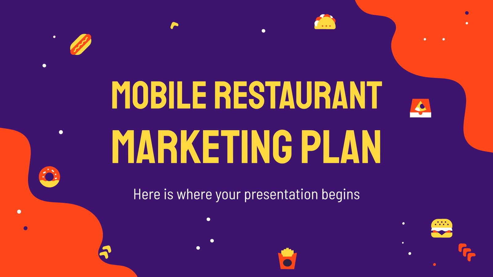 Mobile Restaurant Marketing Plan presentation template