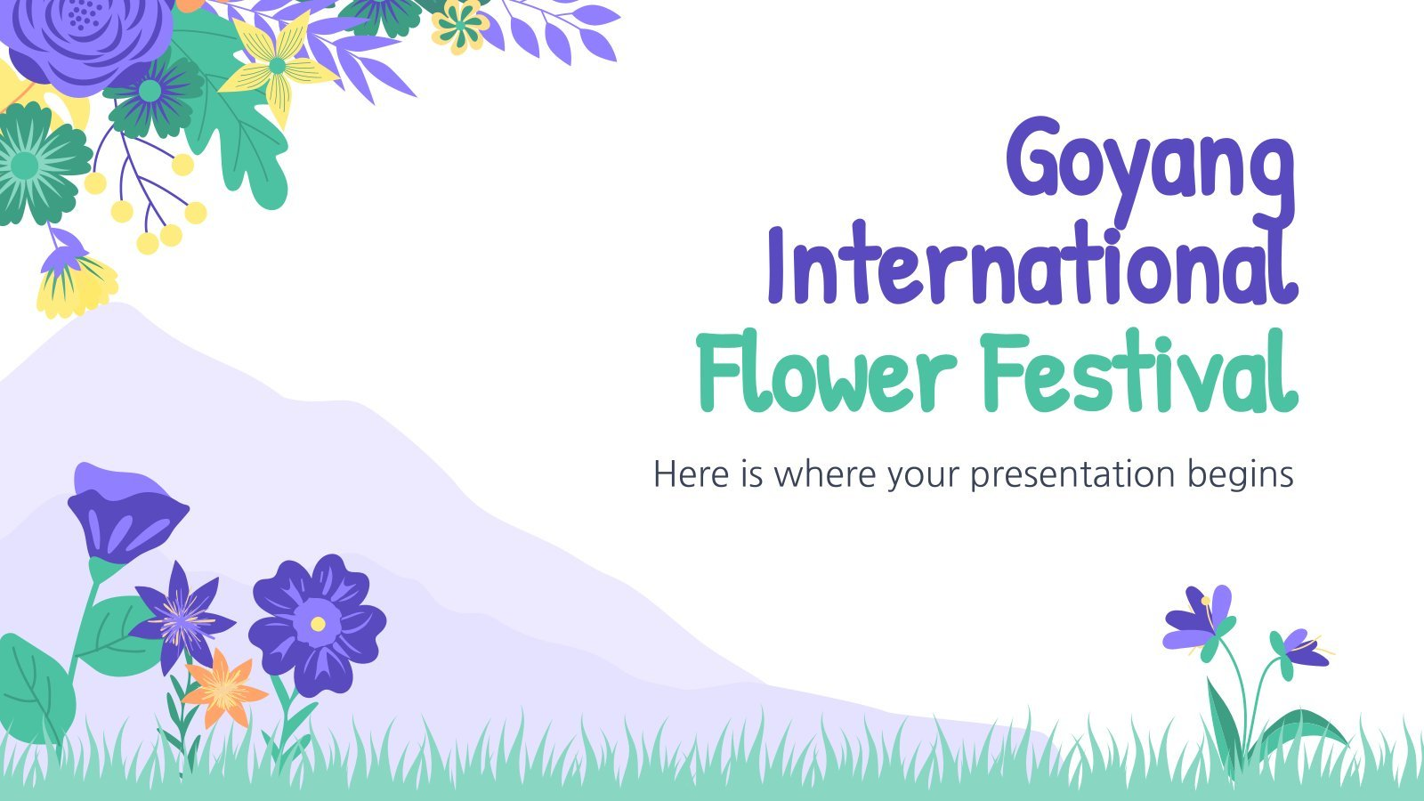 Goyang International Flower Festival presentation template
