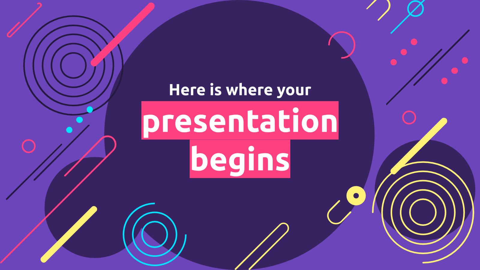 Abstract Spiral presentation template