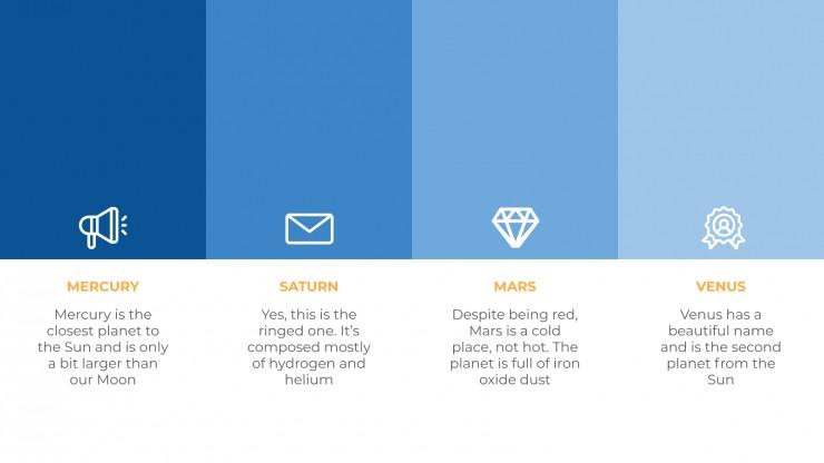 Plantilla de presentación Negocio azul