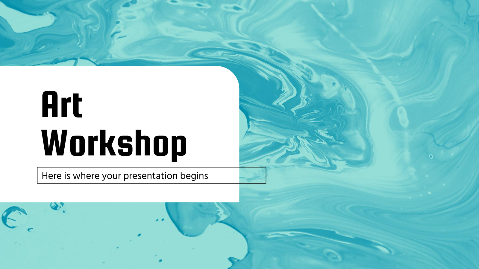 Art Workshop presentation template