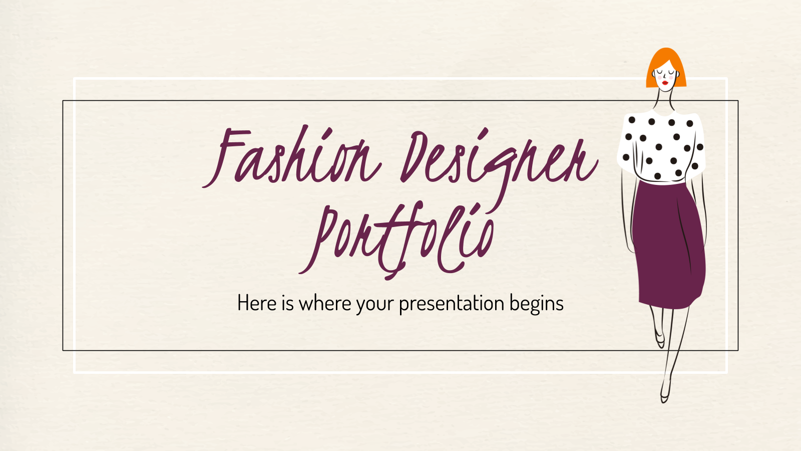 Fashion Designer Portfolio presentation template
