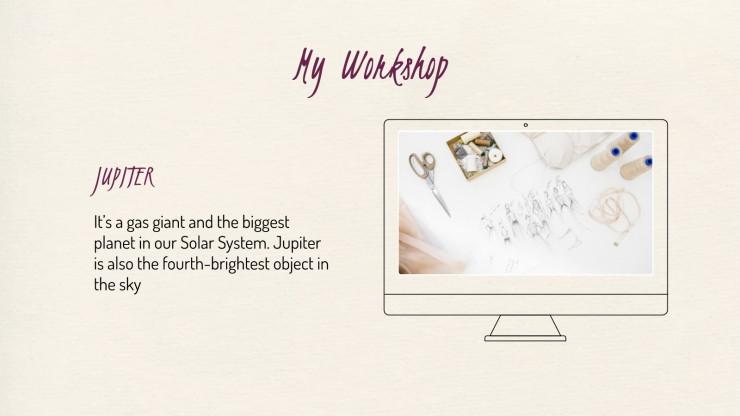 Modedesigner-Portfolio Präsentationsvorlage