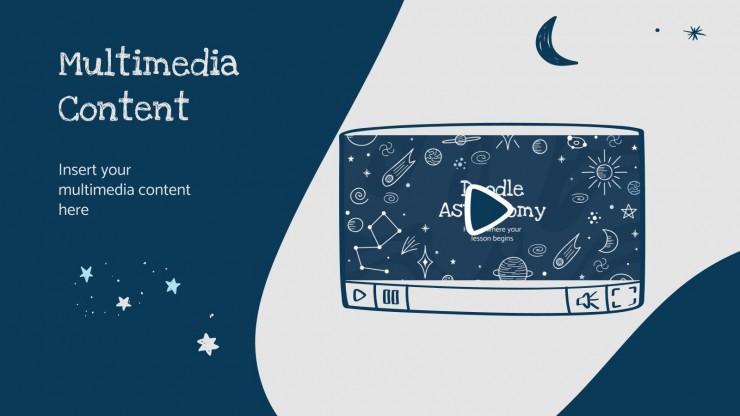 Doodle Astronomieunterricht Präsentationsvorlage