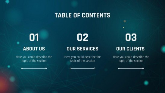 Modelo de apresentação Agência de inteligência artificial