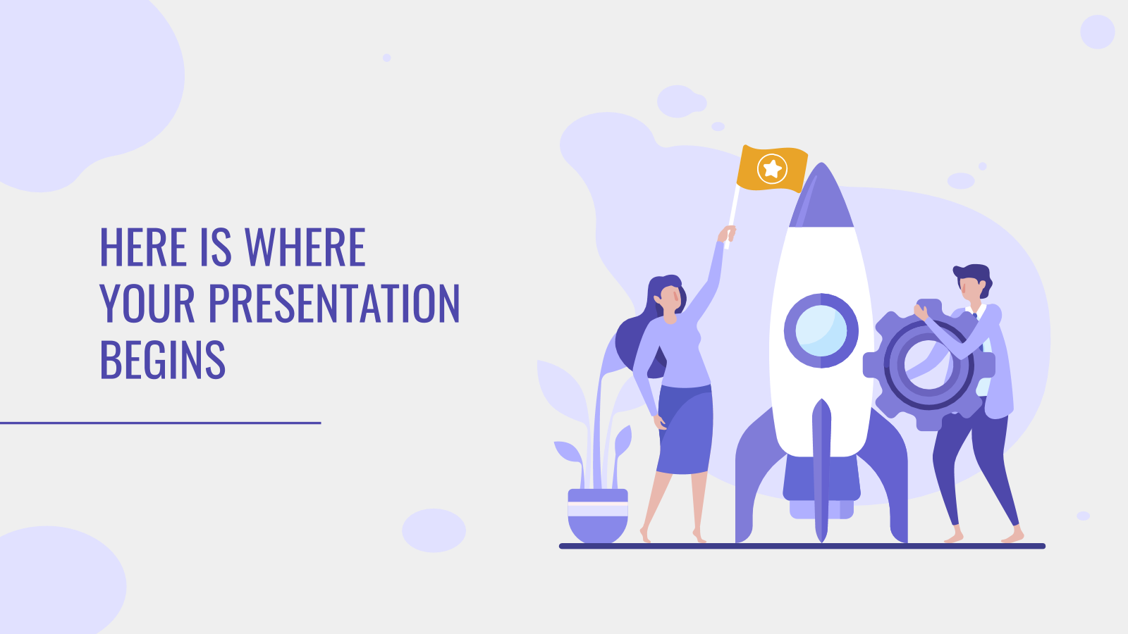 Purple Illustrations presentation template