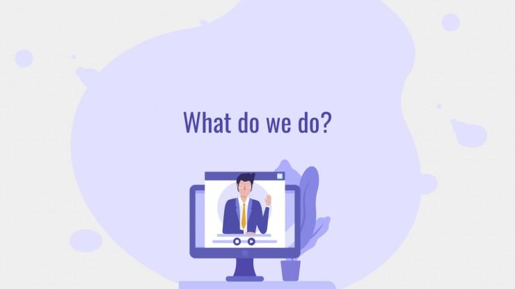 Purple Illustrations presentation template