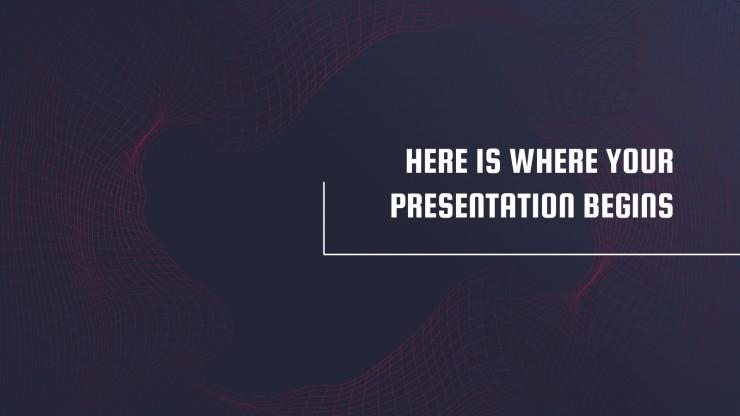 Data Waves presentation template