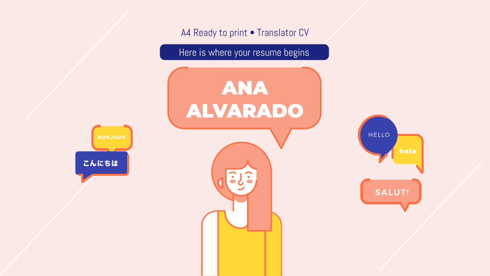 Translator CV presentation template