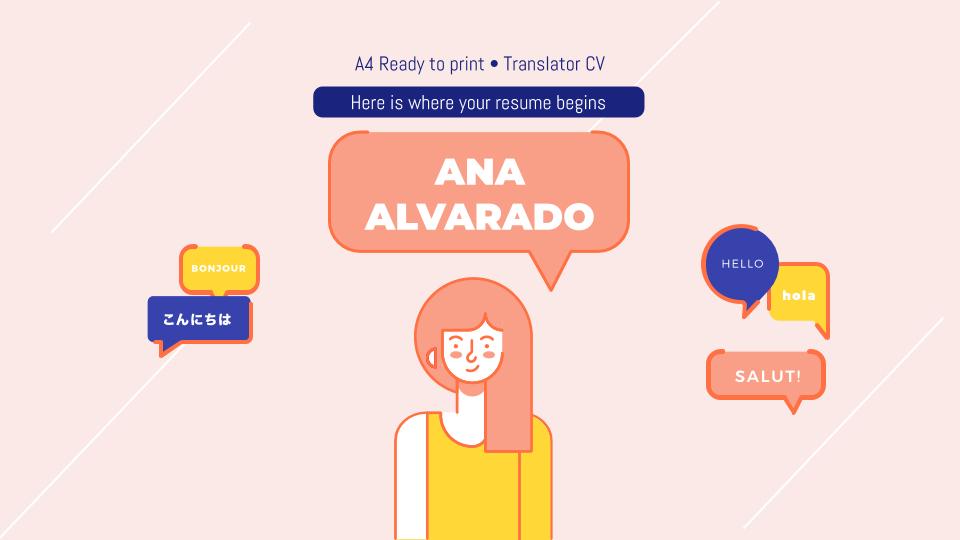 Plantilla de presentación CV para traductores