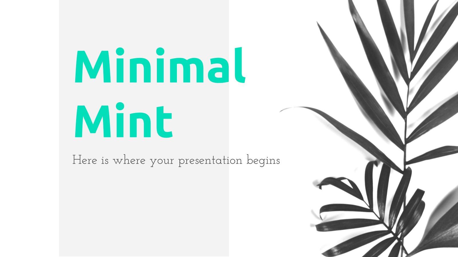 Modelo de apresentação Menta minimalista