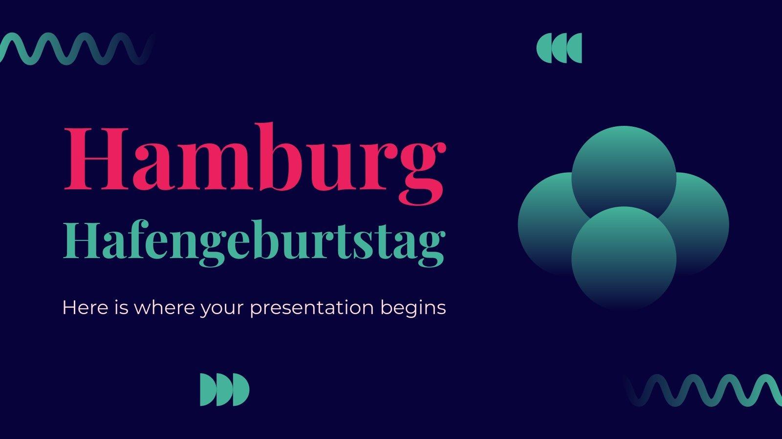 Plantilla de presentación Hamburg Hafengeburtstag
