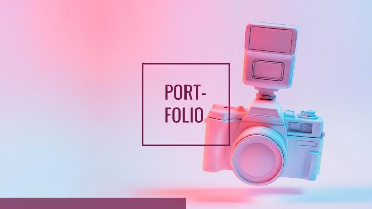 Plantilla de presentación Portafolio de diseñador