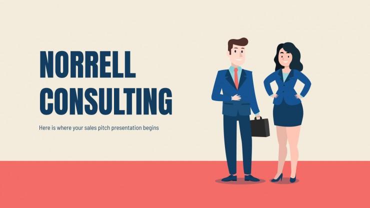 Plantilla de presentación Consultoría Norrell