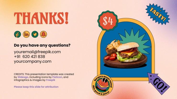 National Hamburger Month presentation template