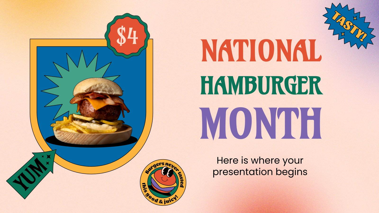 National Hamburger Month presentation template