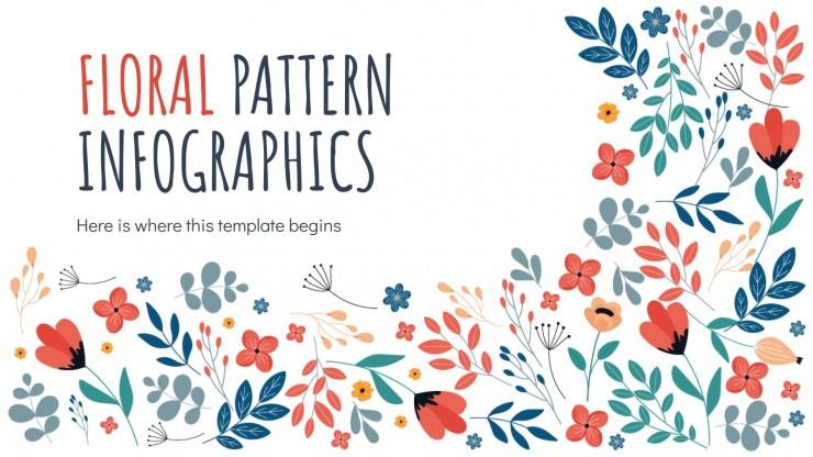 Infográficos de estampa floral