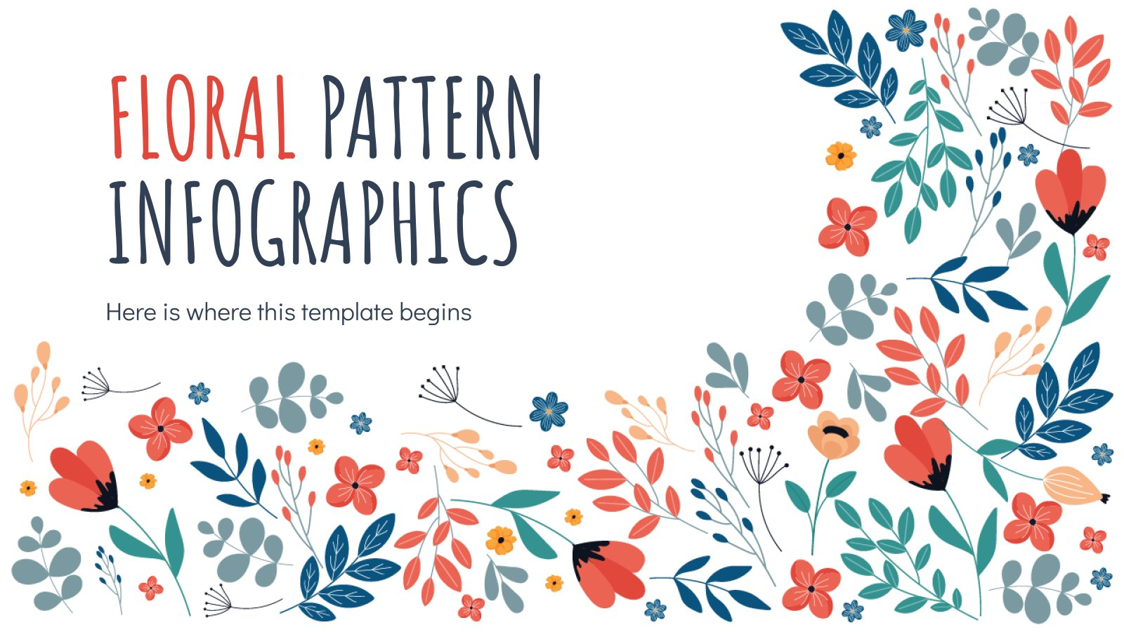Floral Pattern Infographics presentation template