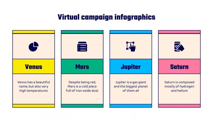 Virtual Campaign Infographics presentation template