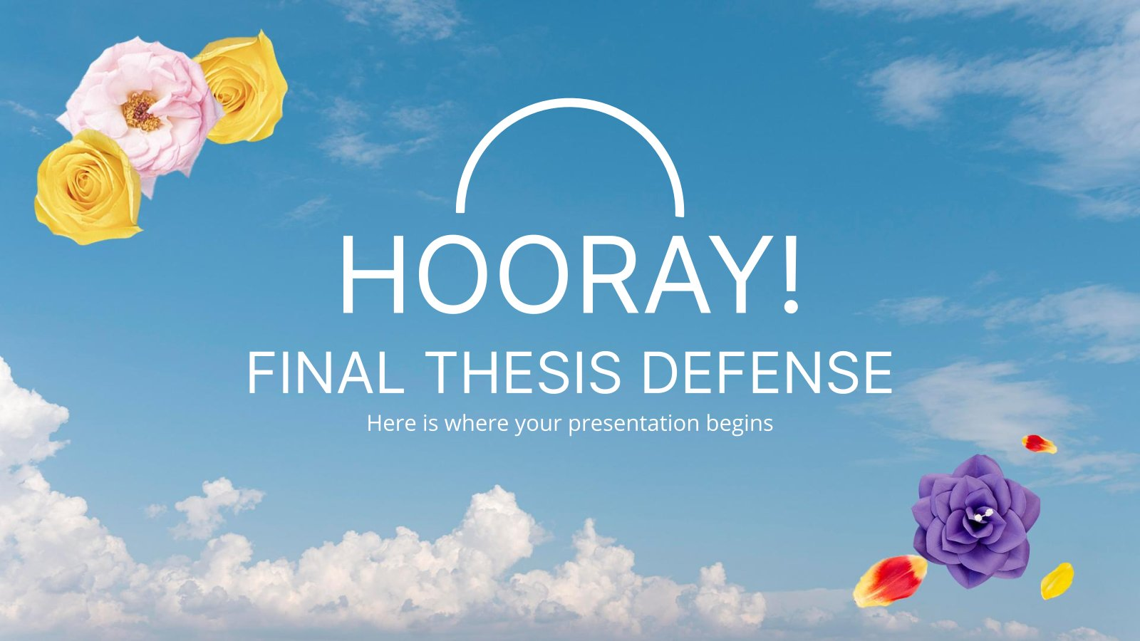 Plantilla de presentación ¡HURRA! Defensa final de tesis