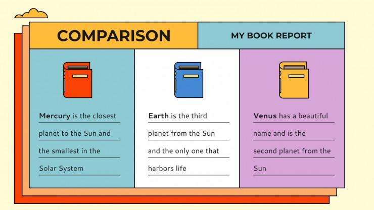 Modelo de apresentação Resumos de livros coloridos