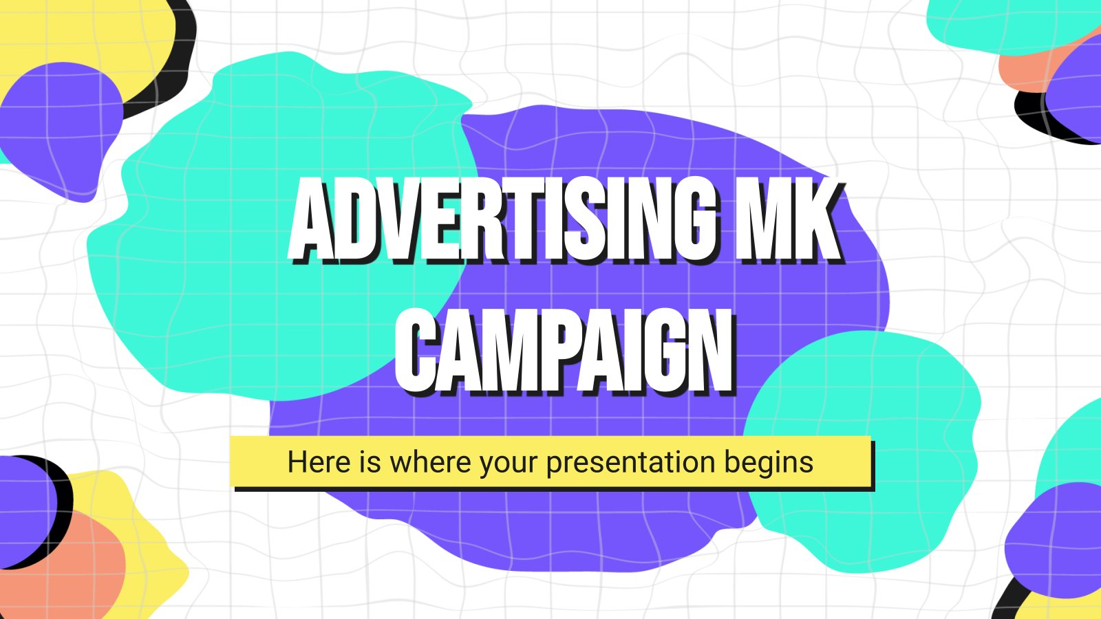 Advertising MK Campaign presentation template