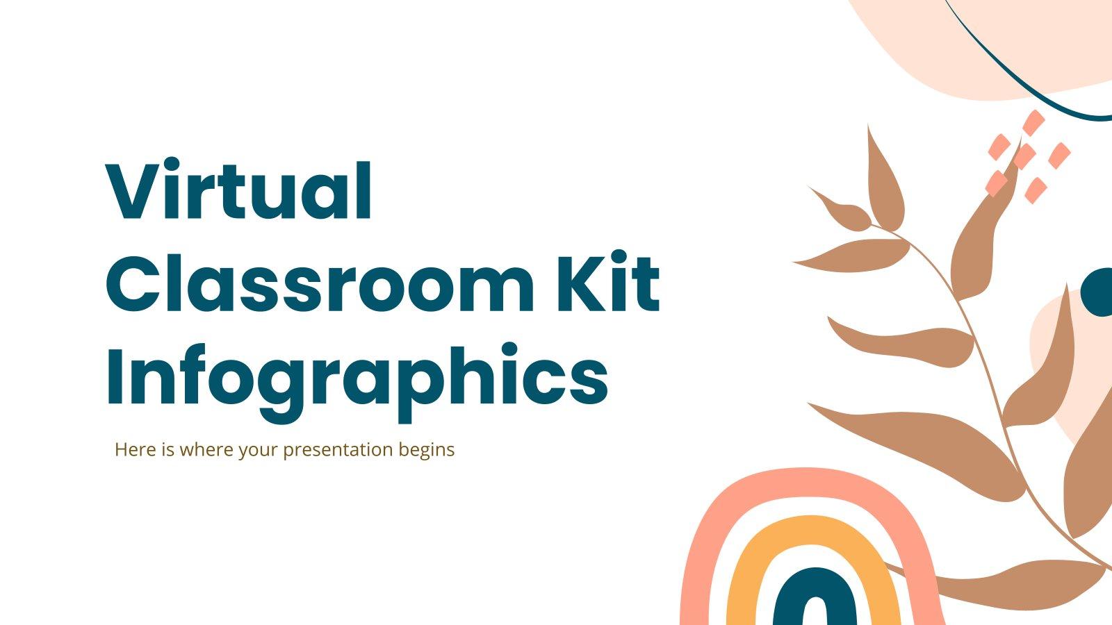 Plantilla de presentación Infografías kit para aula virtual