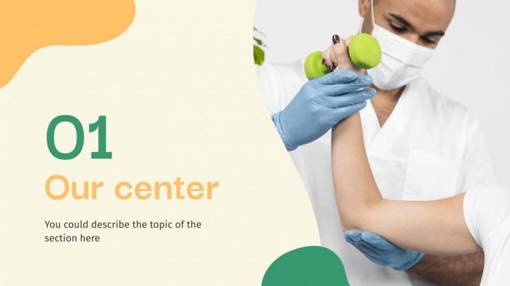 Plantilla de presentación Centro de rehabilitación terapéutica