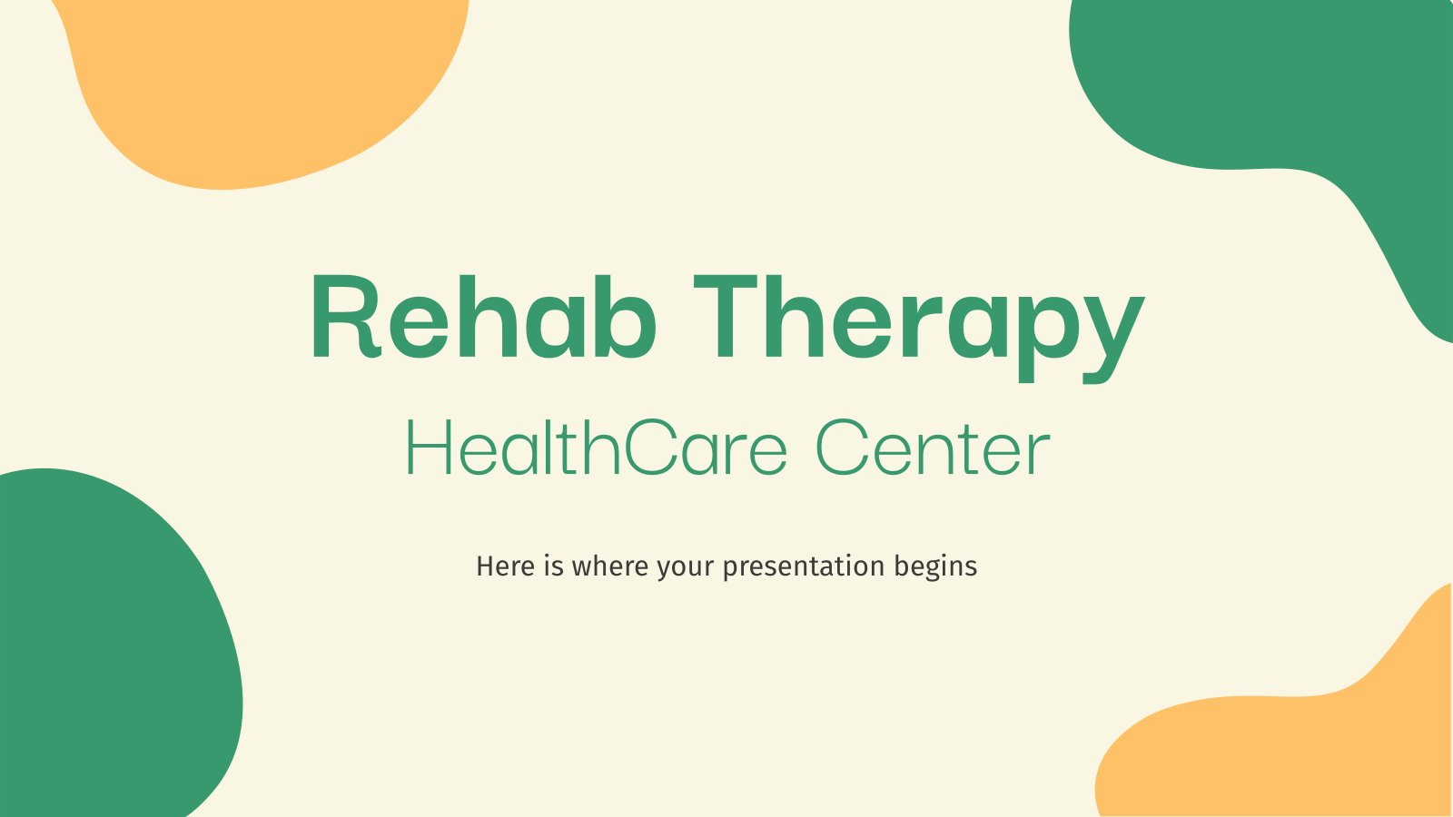 Rehab Therapy HealthCare Center presentation template
