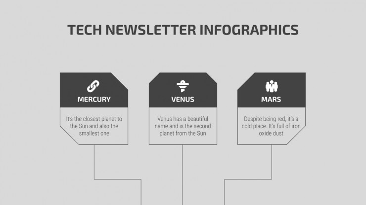 Tech Newsletter Infographics presentation template