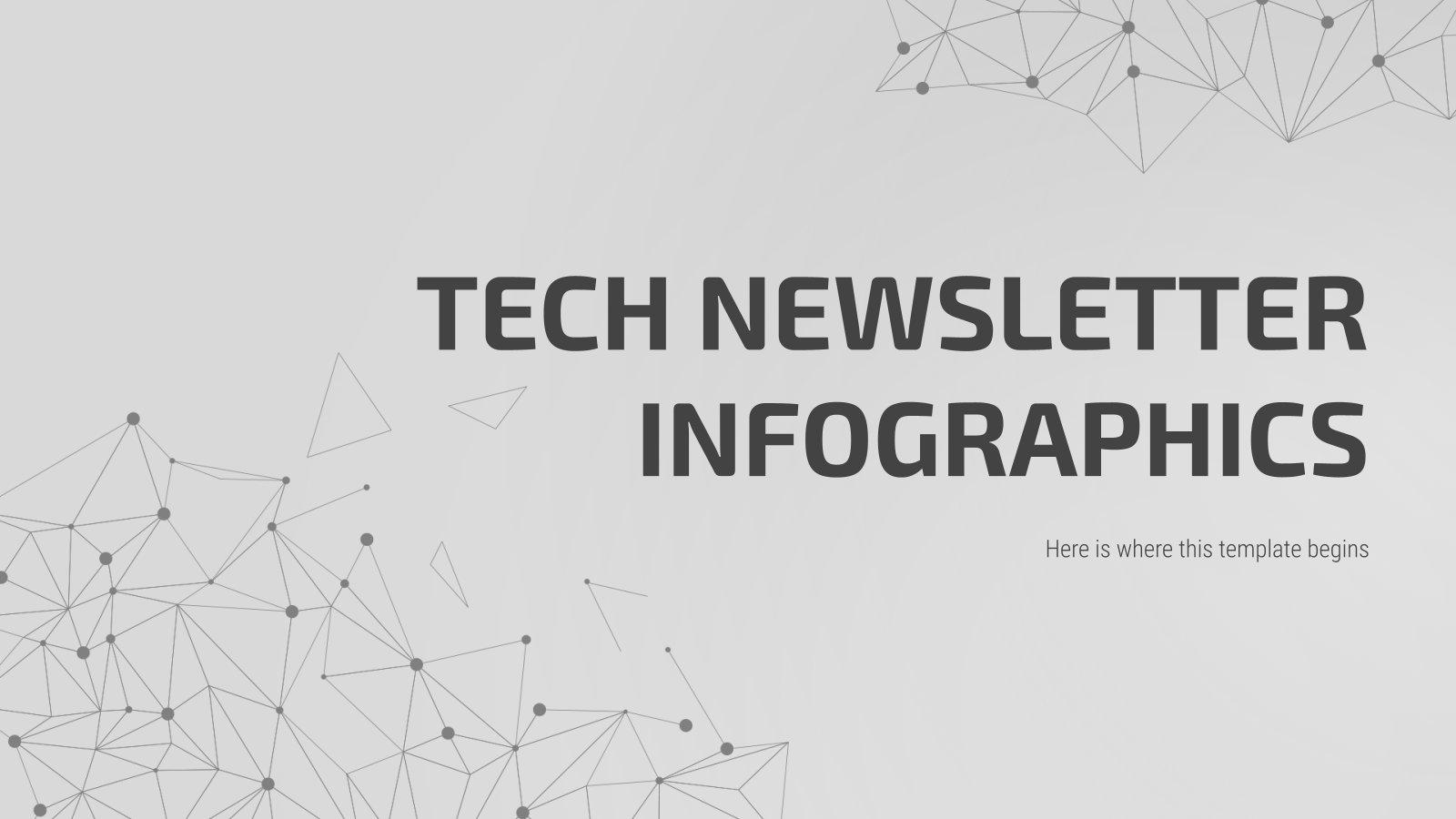 Plantilla de presentación Infografías newsletter de tecnología