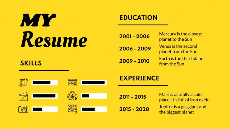 Plantilla de presentación Portafolio de diseño tipográfico